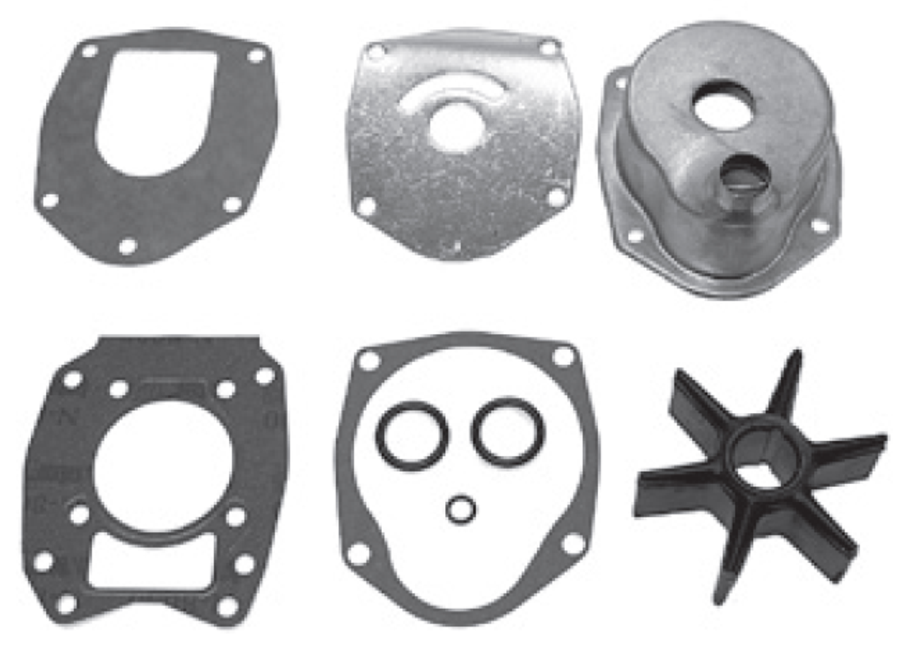 New Red Rhino Mercury-Mariner 3/4/6-CYL Water Pump Kit with Housing  [Replaces OEM 47-43026T11 and 817275A1]