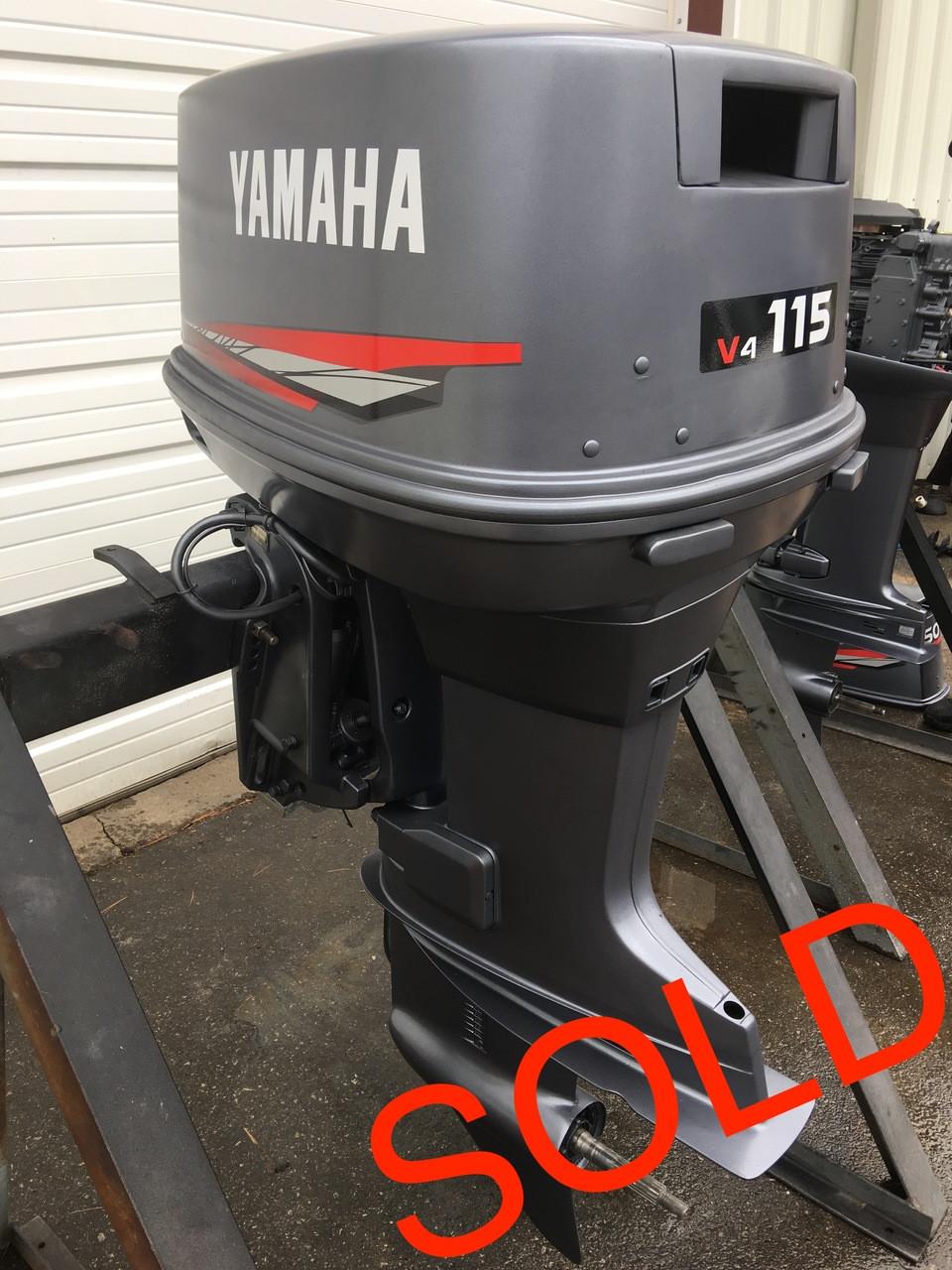 "1991 Yamaha 115 HP V4 Carbureted 2 Stroke 20"" Outboard Motor"
