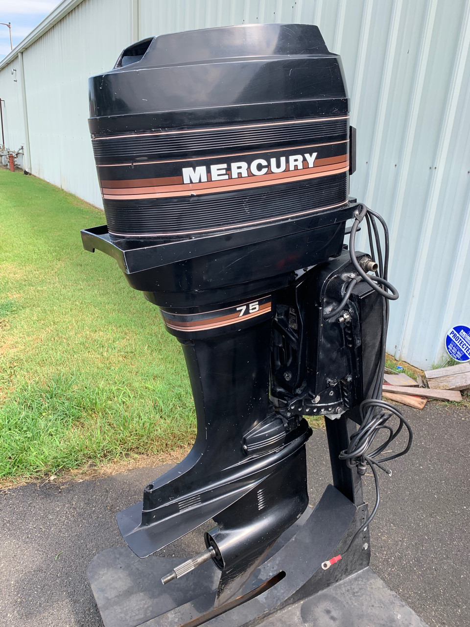 """1985 Mercury 75 HP 4 Cylinder Carbureted 2 Stroke 20"""" (L) Outboard Motor"""