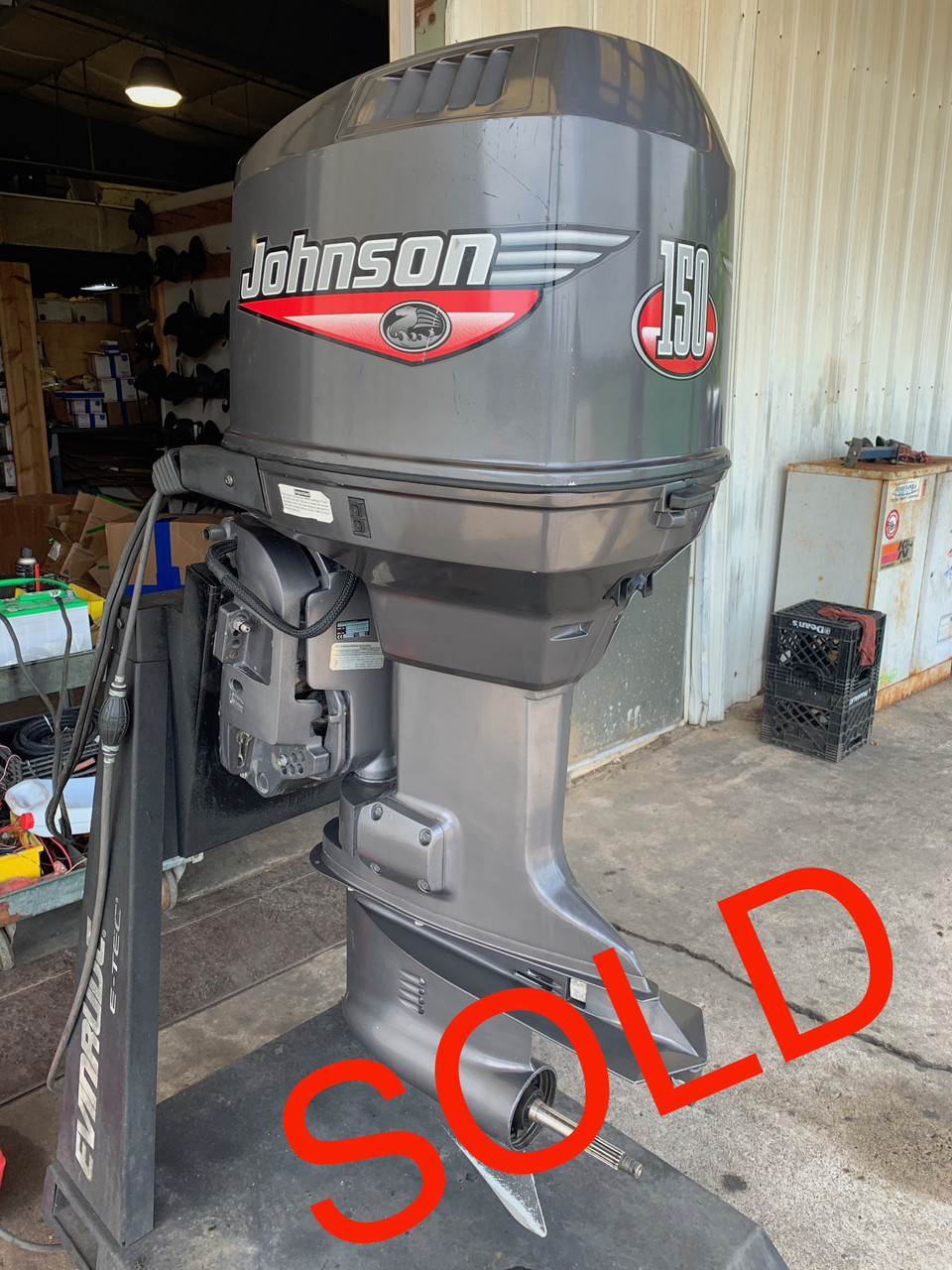 "1999 Johnson 150 HP V6 2 Stroke 20"" (L) Outboard Motor"