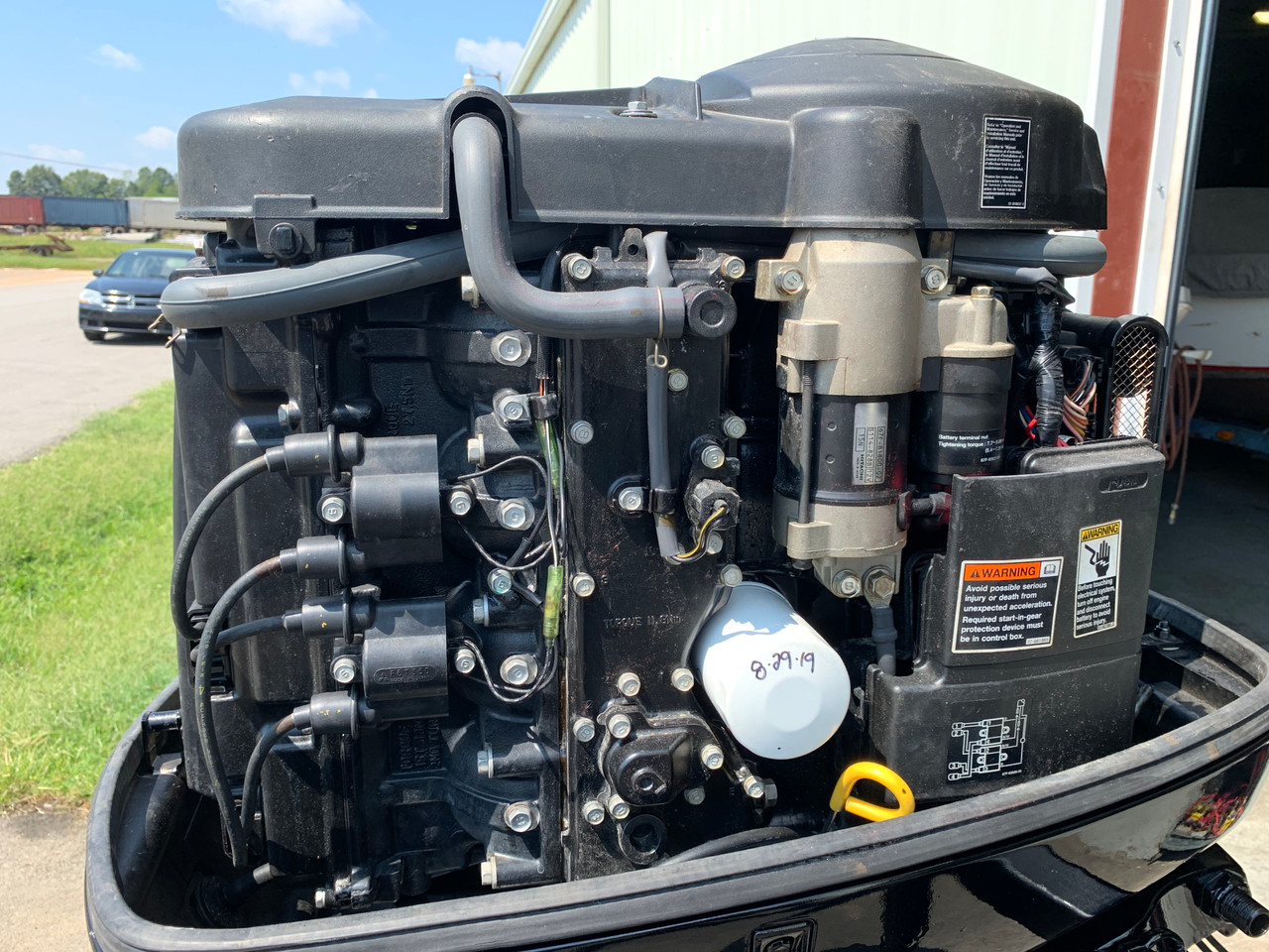 """2002 Mercury 90 HP 4 Cylinder Carbureted 4 Stroke 20"""" (L) Outboard Motor"""