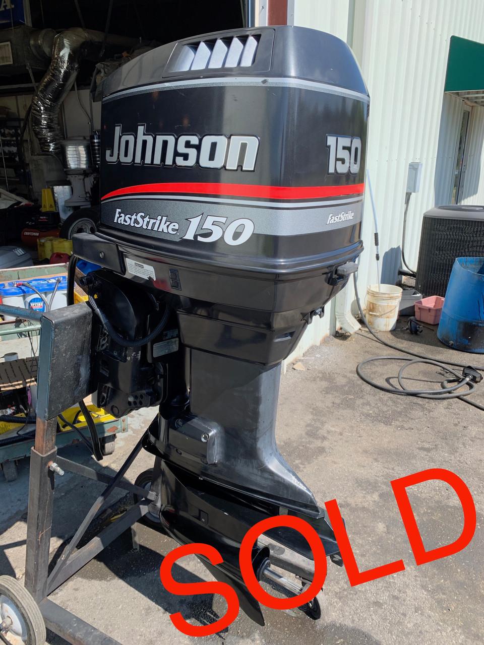 "1998 Johnson FastStrike 150 HP V6 2 Stroke 20"" (L) Outboard Motor"