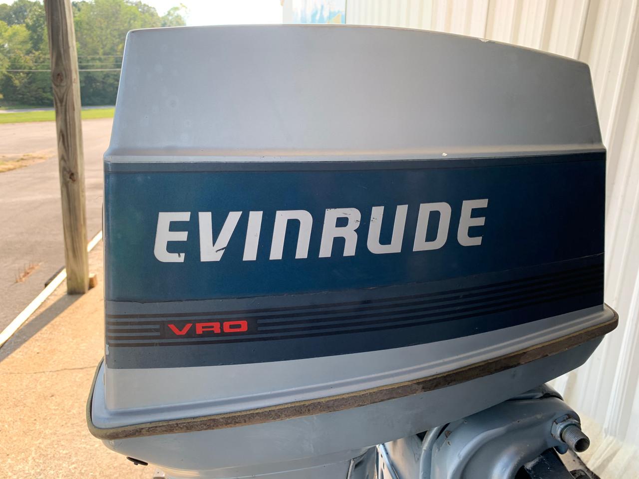 """1986 Evinrude 60 HP 3 Cylinder Carbureted 2 Stroke 20"""" (L) Outboard Motor"""