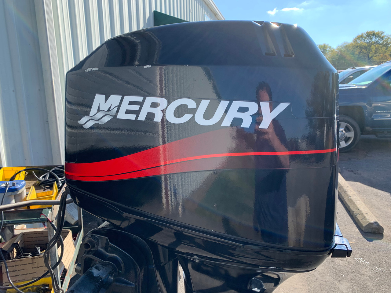 "2003 Mercury 50 HP 3 Cylinder Carbureted 2 Stroke 20"" (L) Outboard Motor"