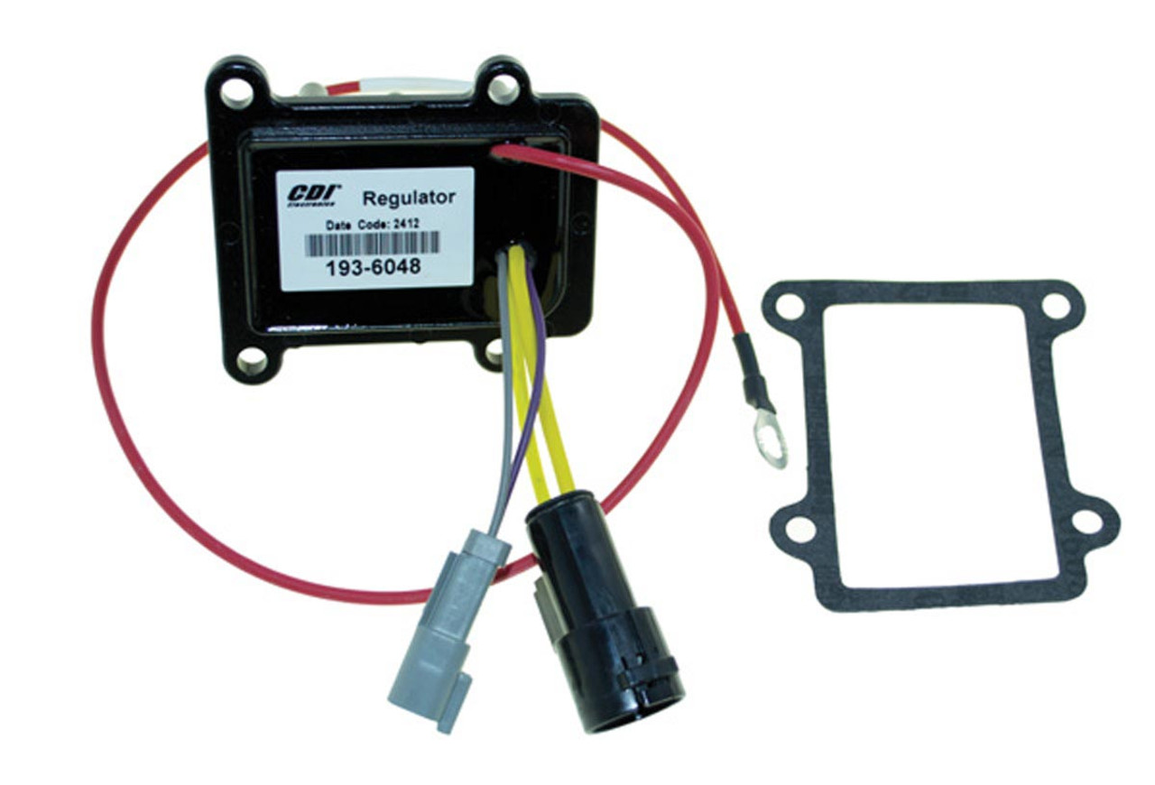 New CDI Johnson/Evinrude 35 Amp Rectifier/Regulator