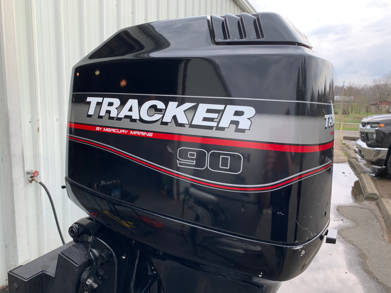 """2002 Mercury Tracker 90 HP 4 Cylinder Carbureted 2 Stroke 20"""" (L) Outboard Motor"""