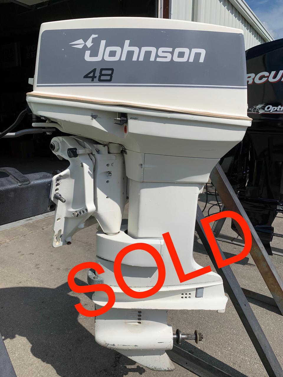 "1987 Johnson 48 HP 2 Cylinder Carbureted 2 Stroke 20"" (L) Outboard Motor"