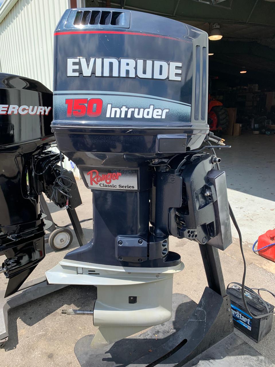 """1995 Evinrude Intruder 150 HP V6 Carbureted 2 Stroke 20"""" (L) Outboard Motor"""