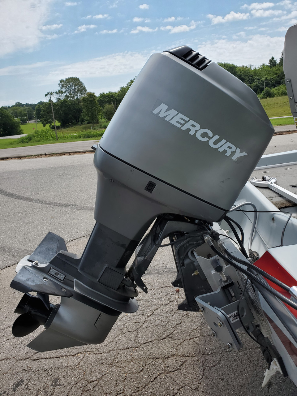 1991 Bumble Bee 18.5' Fiberglass Boat with 1997 Mercury 115 HP Outboard Motor and Trailer
