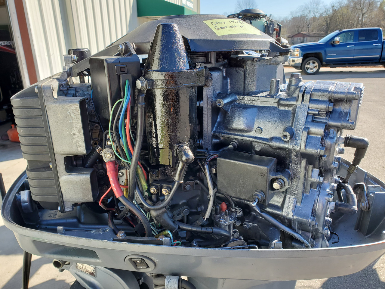 "1987 Yamaha 115 HP V4 Carbureted 2-Stroke 25"" (X) Outboard Motor"