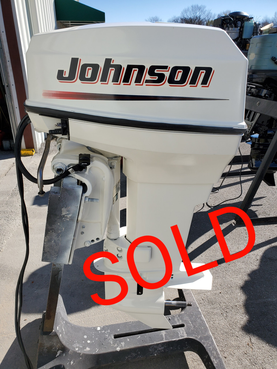 """2003 Johnson 50 HP 2-Cyl Carbureted 2-Stroke 20"""" (L) Outboard Motor"""