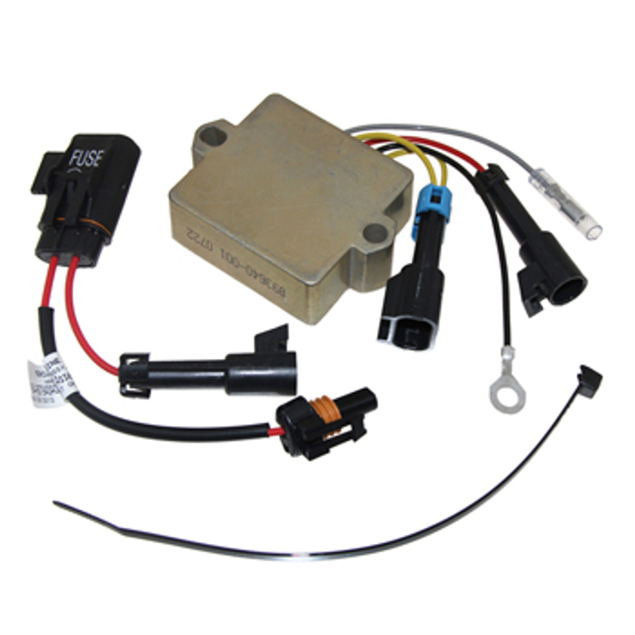 Mercury 3/4 Cylinder 25-60 HP 4-Stroke Voltage Regulator with Fuse Harness Replaces OEM # 893640A03