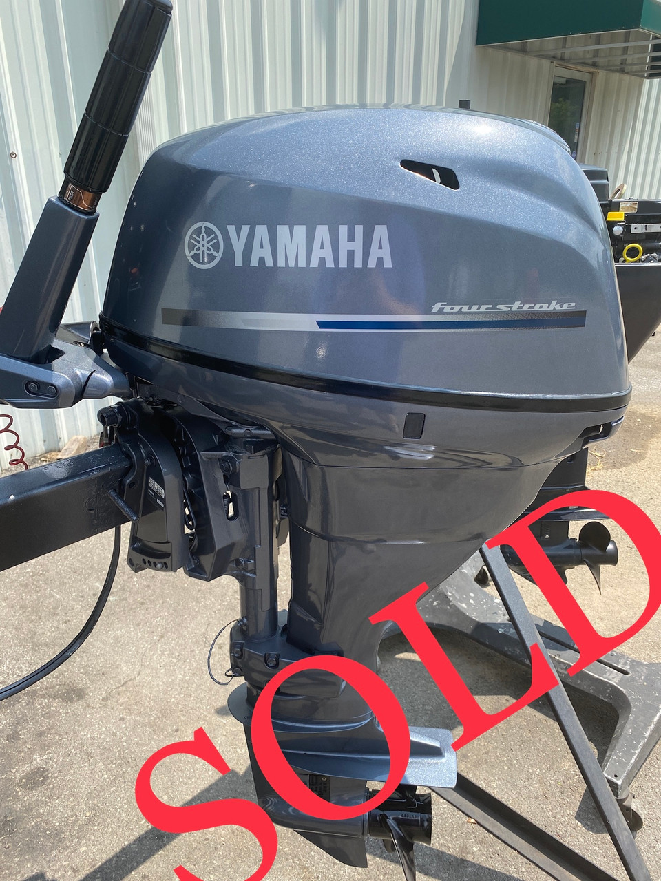"""2012 Yamaha 25 HP 2-Cyl Carbureted 4-Stroke 20"""" (L) Outboard Tiller Motor"""