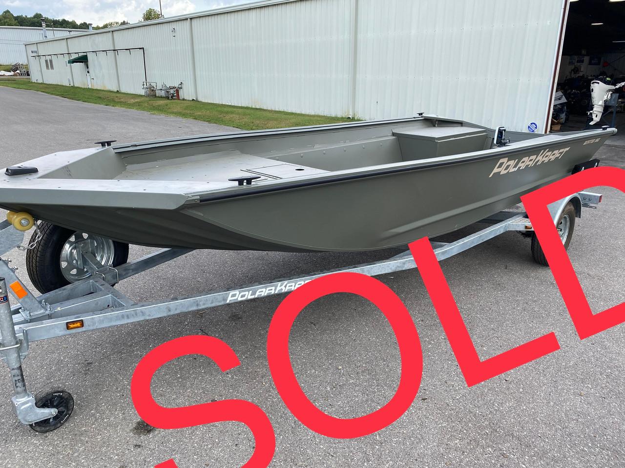 2018 PolarKraft Outfitter 1860LW 18' Aluminum Jon Boat w/ Single Axel Trailer