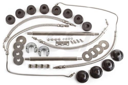 """New Hose & Hardware Kit For Alpha I 15-9/16"""" Trim Cylinder"""