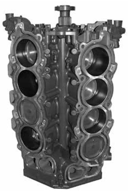 Remanufactured Yamaha F300/350 HP V8 4-Stroke Short Block, 2006 and up