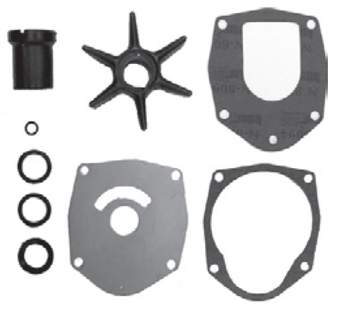 New Red Rhino Mercury-Mariner 3/4/6-CYL Water Pump Kit without Housing  [Replaces OEM 47-43026T11]