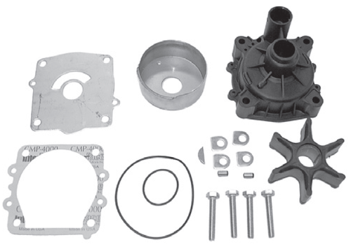 New Red Rhino Yamaha 2.6/3.1/3.3L Water Pump Kit, Single Water Pickup [Replaces OEM 6G5-W0078-A, 61A-W0078-A2-001-00]