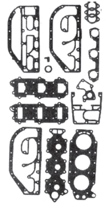 New Red Rhino Johnson/Evinrude 3 CYL 60/70 HP Small Bore Powerhead Gasket Set [Replaces OEM 439084]