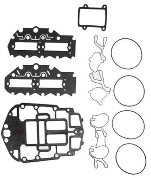 New Red Rhino Johnson/Evinrude 4 CYL 75-115 HP 60° Powerhead Gasket Set [1995-2006] [Replaces OEM 439559]