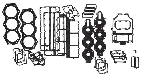 New Red Rhino Johnson/Evinrude 6 CYL 150-200 HP Crossflow Flatback Powerhead Gasket Set [1976-1991] [Replaces OEM# 391988]