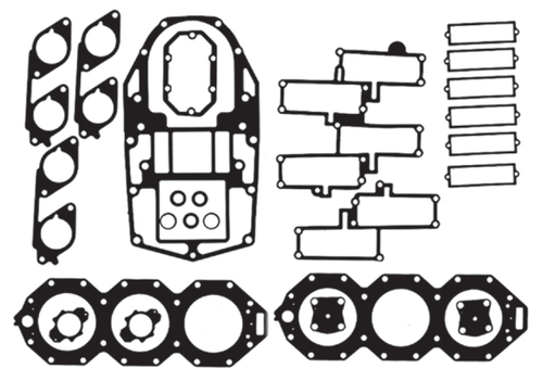 New Red Rhino Johnson/Evinrude 6 CYL 200-250 HP Big Bore Looper Powerhead Gasket Kit [1988-1992] [Replaces OEM# 436891]