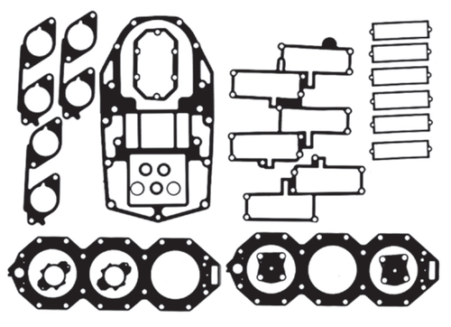 New Red Rhino Johnson/Evinrude 6 CYL 200-250 HP Big Bore Carb & 3.0L Ficht Looper Powerhead Gasket Kit [1993-2001] [Replaces OEM# 437725]