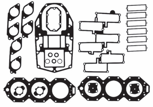 New Red Rhino Johnson/Evinrude 6 CYL 200-250 HP 3.3L Ficht Looper Powerhead Gasket Kit [Replaces OEM# 437725]