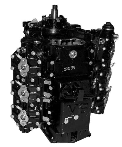 Remanufactured Johnson/Evinrude 200/225/250 HP V6 90° Ficht Powerhead, 1999-2005