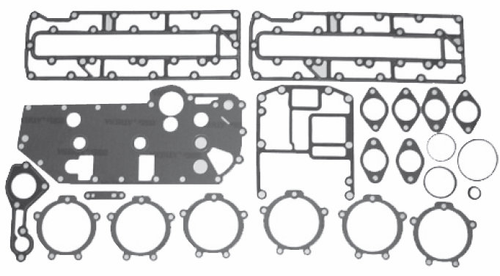 New Red Rhino Mercury/Mariner 3 CYL 70-90 HP Powerhead Gasket Kit [1987-2010] [Replaces OEM# 27-43004A90]