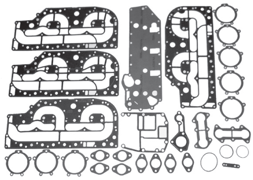 New Red Rhino Mercury/Mariner 4 CYL 100-125 HP Powerhead Gasket Kit [1988-2005] [Replaces OEM# 27-13461A99]