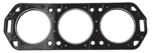 New Red Rhino Mercury/Mariner V6 150/175 HP Head Gasket with Dowel Pins [1991] [Replaces OEM# 27-18786-1]