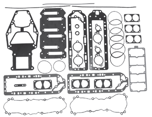 New Red Rhino Mercury/Mariner V6 2.5L 175 HP Sport Jet Powerhead Gasket Kit [1997 & Up] [Replaces OEM#s 27-850396A1, 27-804852A1]