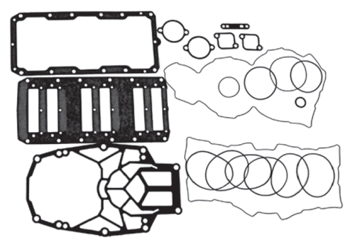 New Red Rhino Mercury/Mariner V6 3.0L 200-250 HP DFI Powerhead Gasket Kit [2000 & up] [Replaces OEM# 27-832934A00]