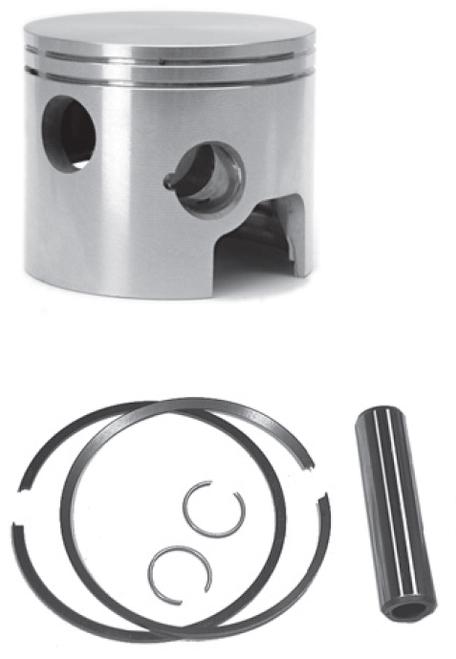 New Red Rhino Cast Piston for Mercury/Mariner 3 Cyl 40-60 HP Powerheads [1998-2003]