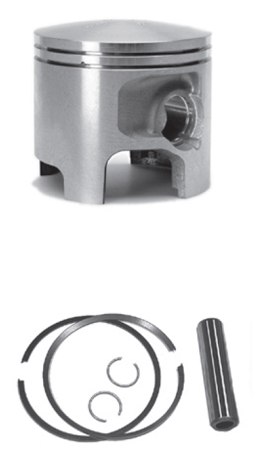 New Red Rhino Cast Piston for Mercury/Mariner V6 3.0L 225-250 HP Carb/EFI Powerheads [1994-2006]