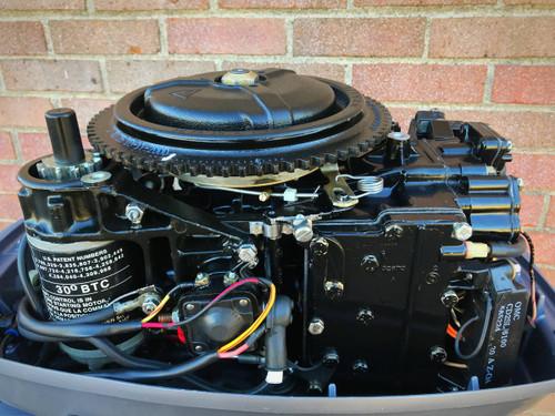 """2000 Johnson 25 HP 2 Cylinder 2-Stroke 15"""" Tiller Outboard Motor"""