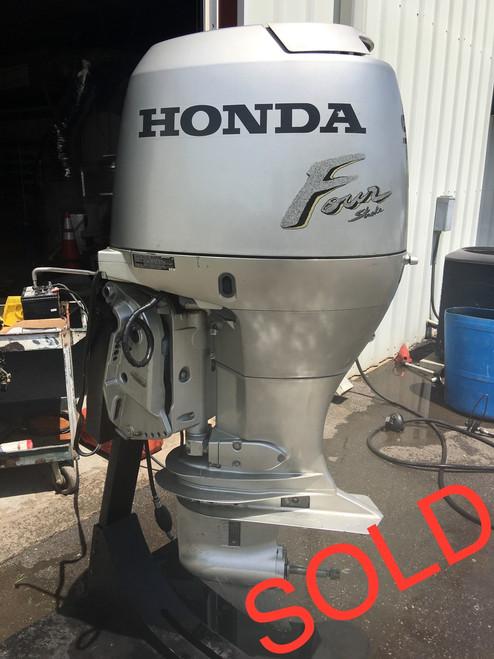 """2000 Honda 90 HP 4 Cylinder Carbureted 4 Stroke 20"""" Outboard Motor"""
