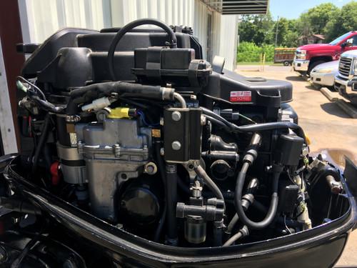 """2006 Mercury 25 HP 3 Cylinder EFI 4 Stroke 15"""" Tiller Outboard Motor"""