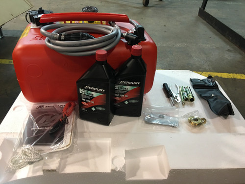 """2020 Mercury 25 HP 3 Cylinder 4 Stroke EFI 15"""" Tiller Outboard Motor"""