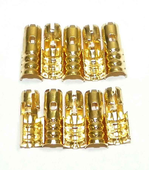 New Brass Spark Plug Wire Terminals for Johnson/Evinrude/Honda Outboard Motors [Pack of 10]