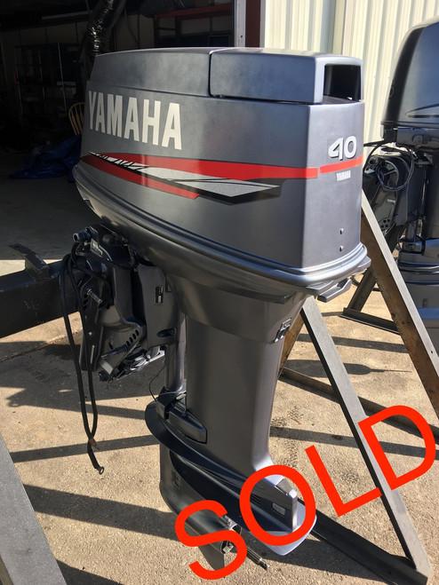 "1999 Yamaha 40 HP 3 Cylinder Carbureted 2 Stroke 20"" Outboard Motor"