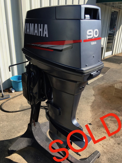 "1985 Yamaha 90 HP 3 Cylinder Oil Injected 2 Stroke 20"" Outboard Motor"