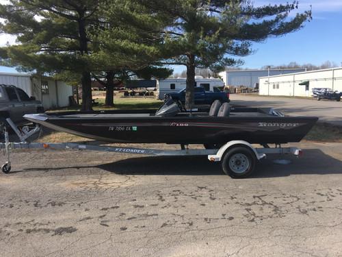 2016 Ranger RT188 19' Aluminum Bass Boat w/EZ Loader Galvanized Aluminum Trailer