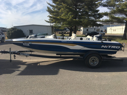 2000 Nitro 185 Sport 18' Fiberglass Fish & Ski/Bass Boat with Trailer