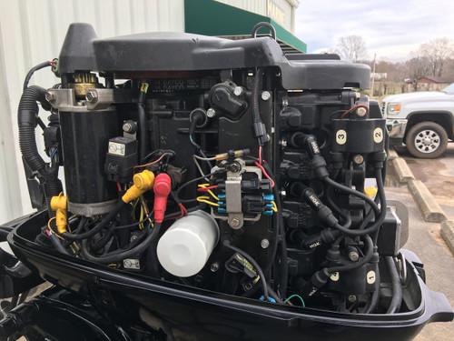 """2001 Mercury 50 HP 4 Cylinder Carbureted 4 Stroke 20"""" Tiller Outboard Motor"""