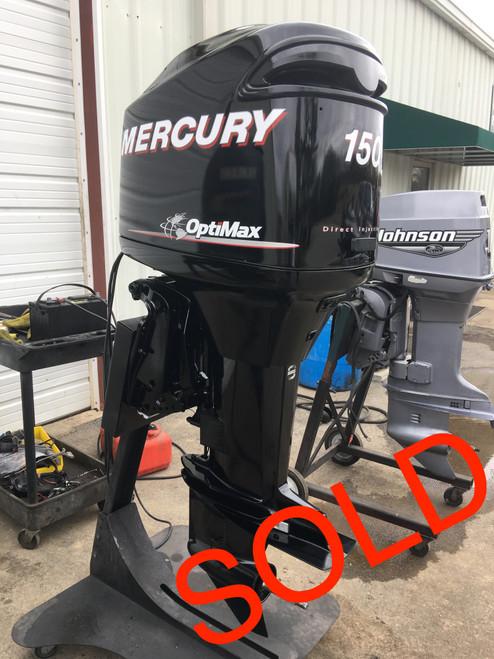 "2006 Mercury 150 HP Optimax V6 DFI 2 Stroke 25"" Counter Rotation Outboard Motor"