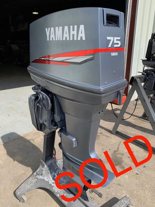 "1995 Yamaha 75 HP 3 Cylinder Carbureted 2 Stroke 20"" Outboard Motor"
