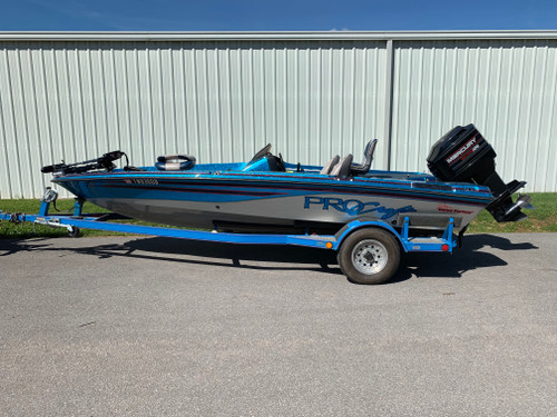 "1994 ProCraft 180 Pro ""Dance Partner"" 18' Fiberglass Bass Boat with Mercury 150 HP Outboard Motor and Trailer"