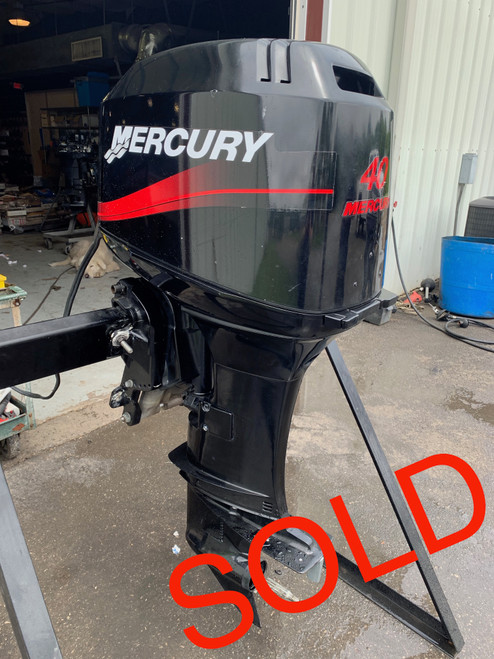 """2000 Mercury 40 HP 3 Cylinder Carbureted 2 Stroke 20"""" (L) Outboard Motor"""